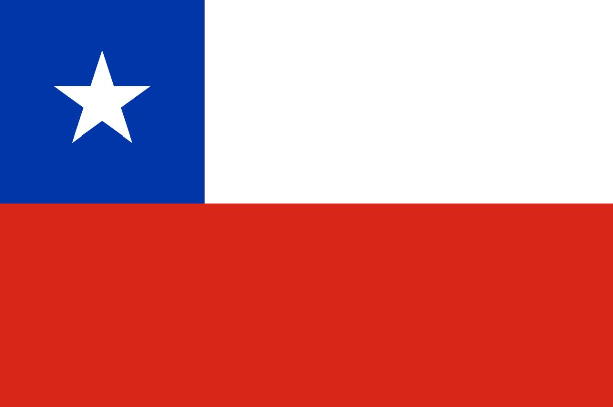 Flagge im Querformat Land Chile 150x100 cm