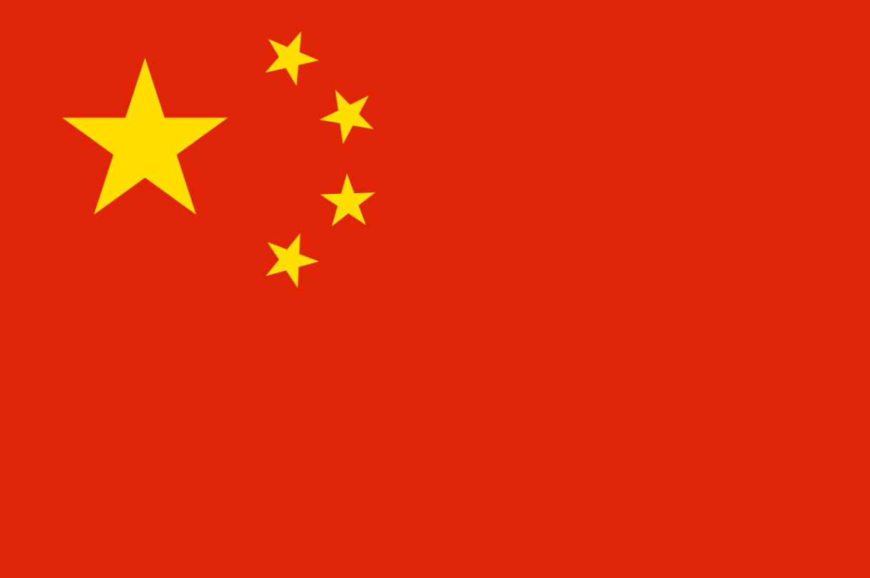 Flagge im Querformat Land China 150x100 cm
