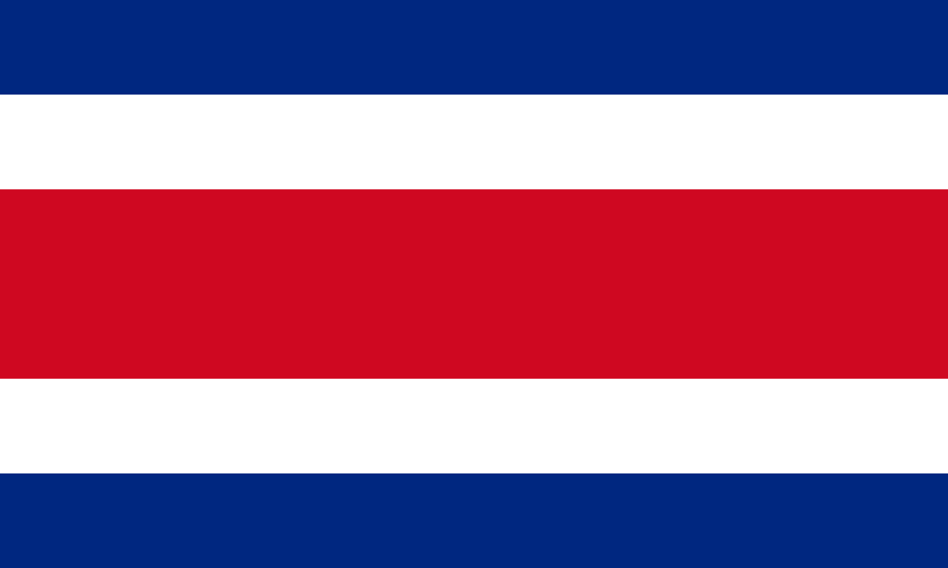 Flagge im Querformat Land Costa Rica 150x100 cm
