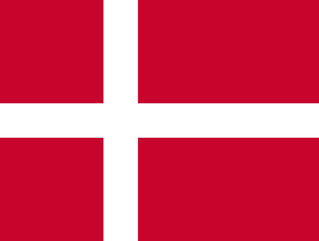 Flagge im Querformat Land D�nemark 150x100 cm