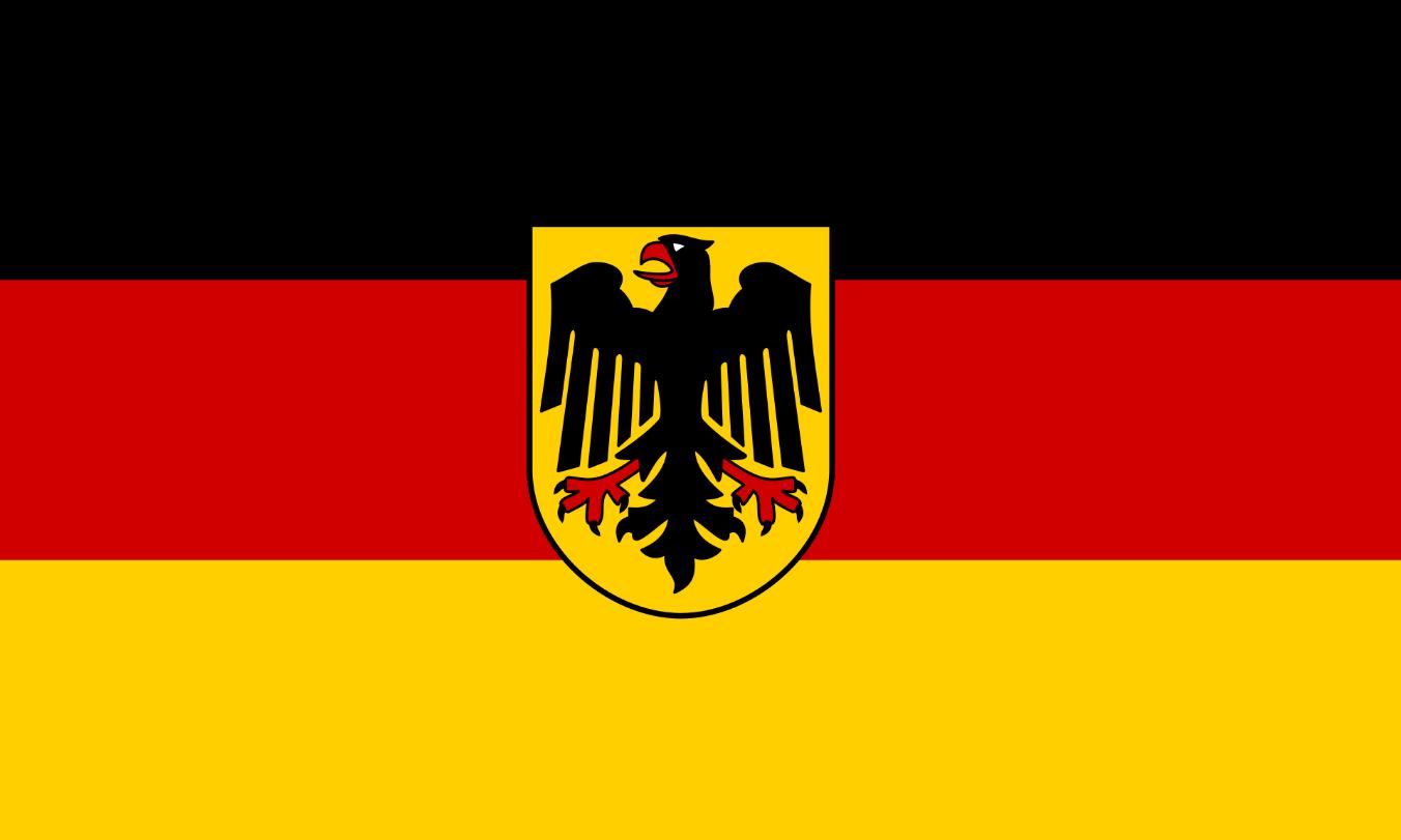 Flagge im Querformat Land Bundesdienstflagge 150x100 cm
