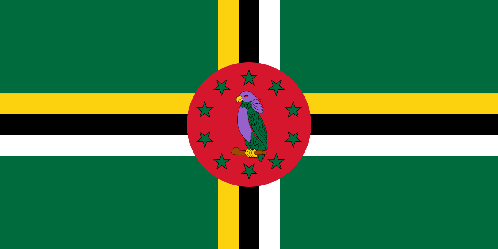 Flagge im Querformat Land Dominica 150x100 cm