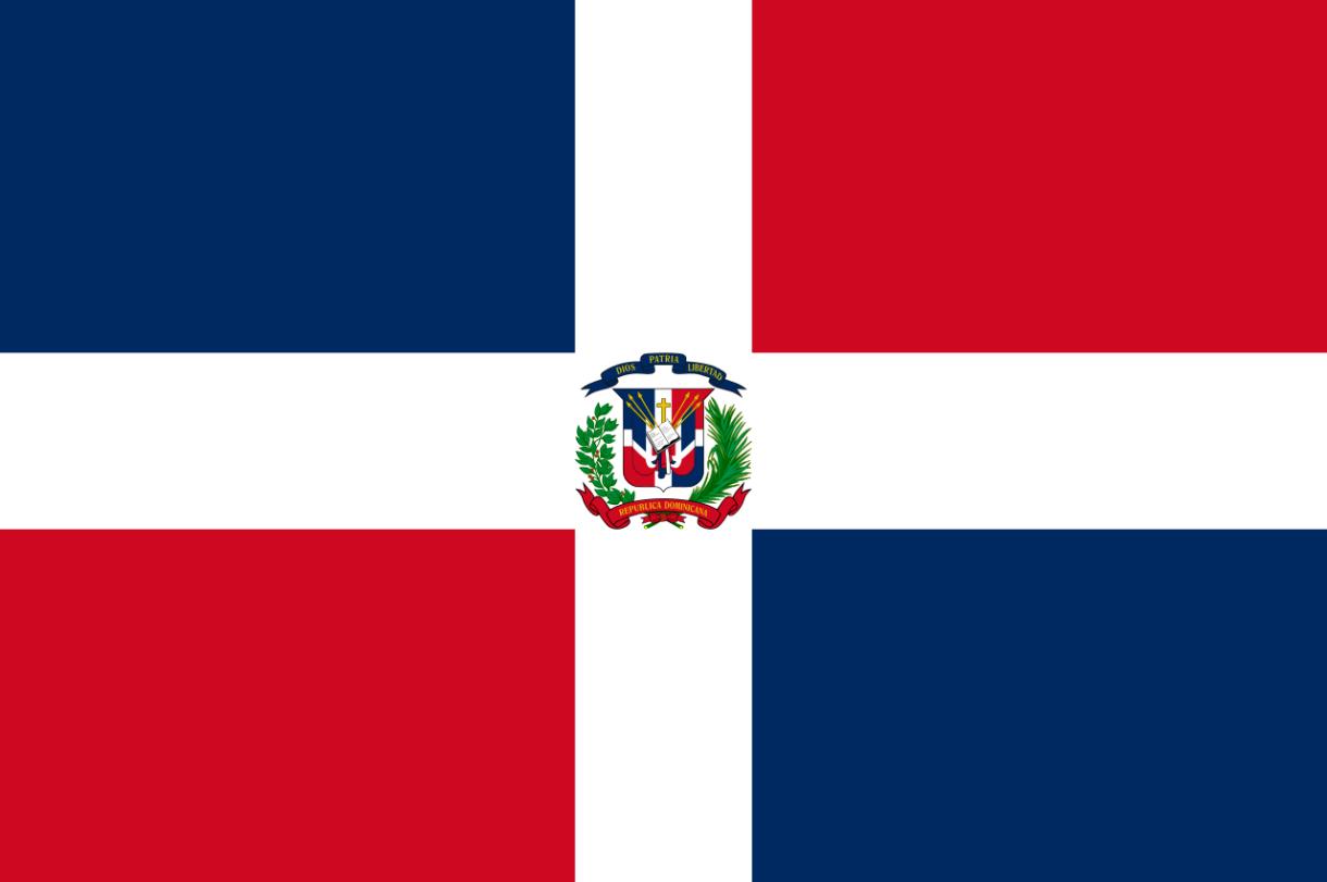 Flagge im Querformat Land Dom. Republik 150x100 cm