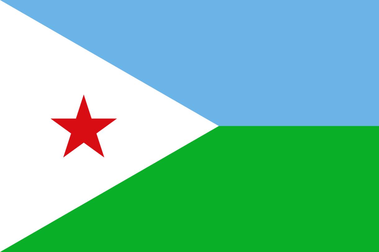 Flagge im Querformat Land Dschibouti 150x100 cm