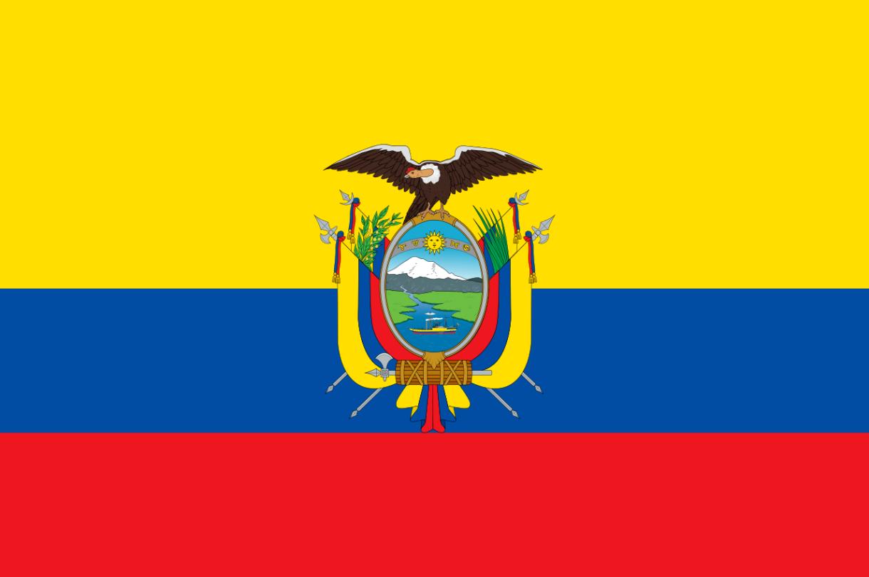 Flagge im Querformat Land Ecuador 150x100 cm