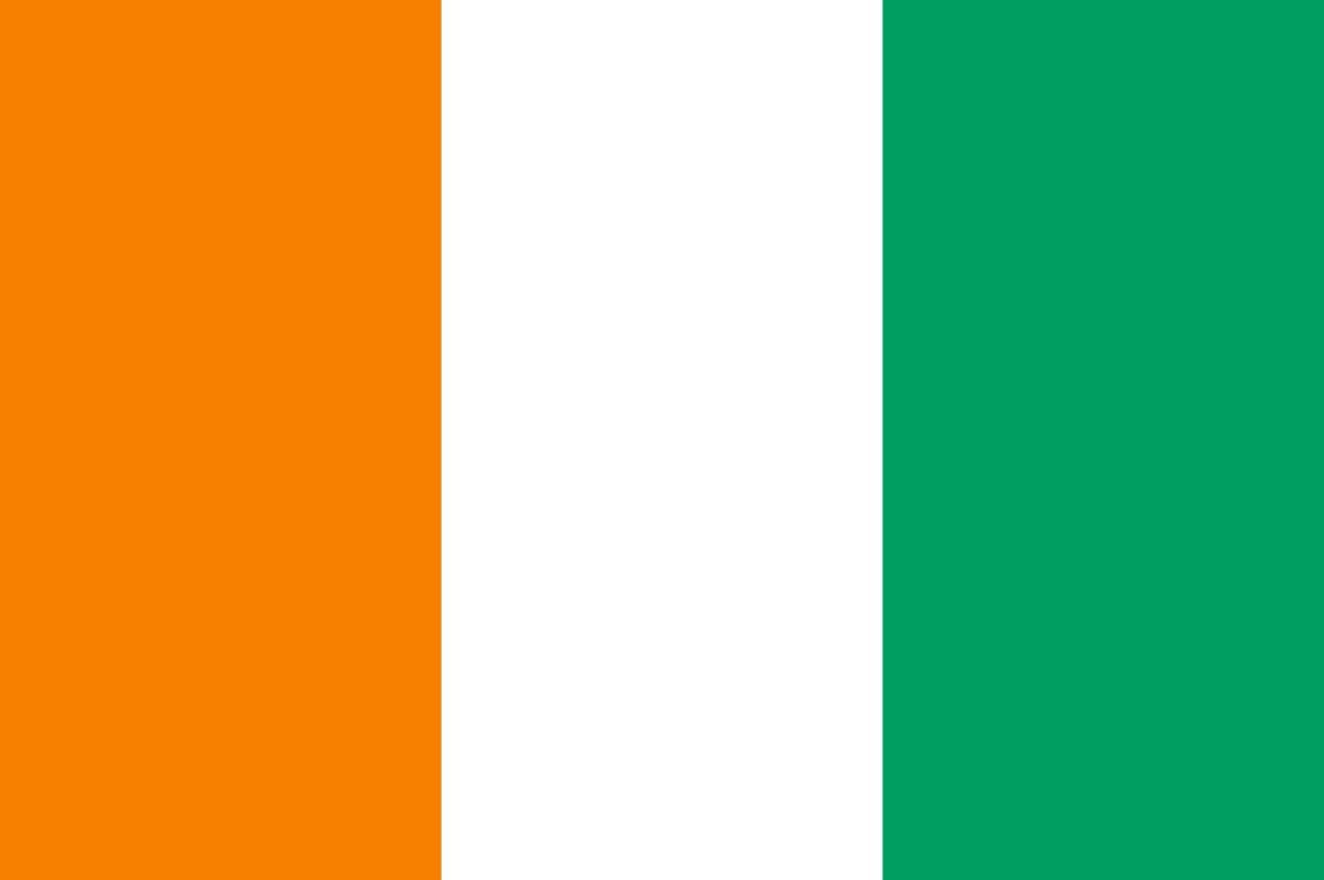Flagge im Querformat Land Elfenbeink�ste 150x100 cm