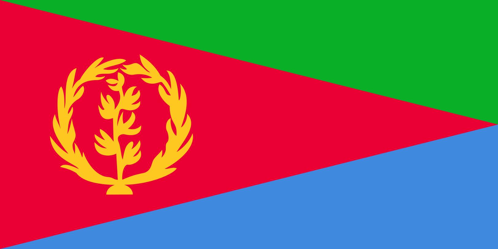 Flagge im Querformat Land Eritrea150x100 cm