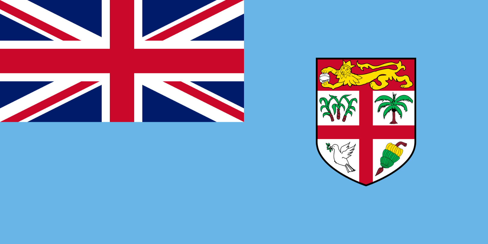 Flagge im Querformat Land Fidschi 150x100 cm