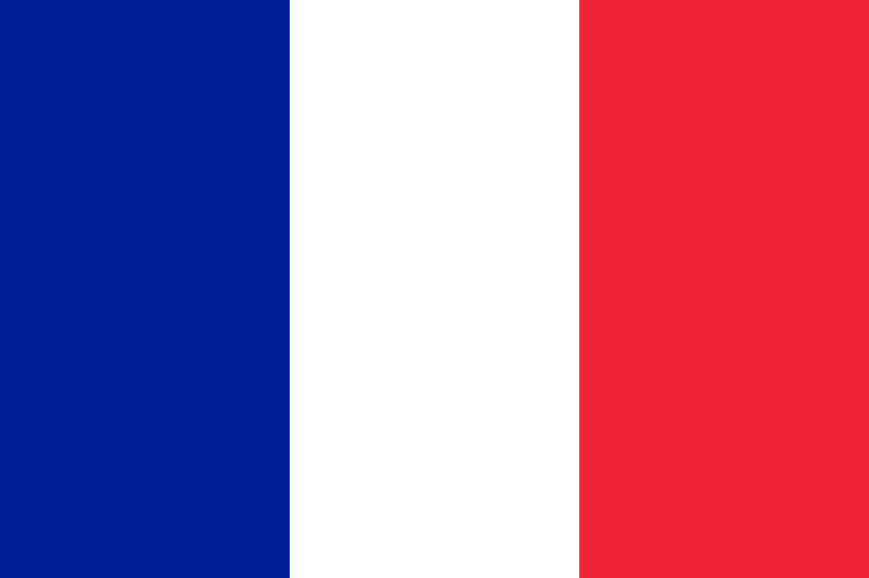 Flagge im Querformat Land Frankreich 150x100 cm