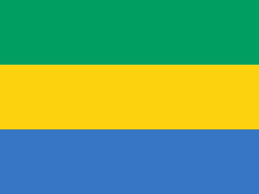 Flagge im Querformat Land Gabun 150x100 cm