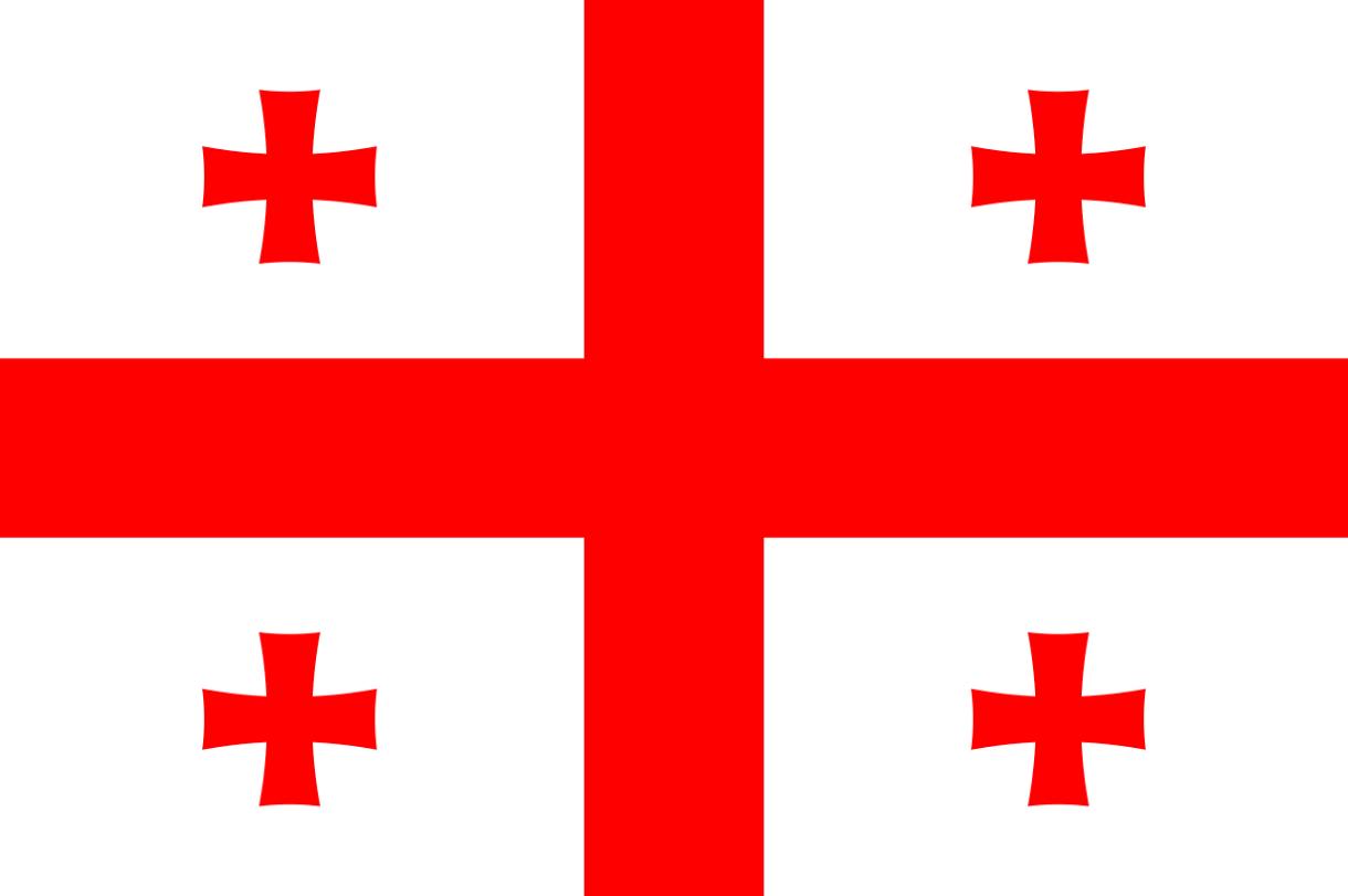Flagge im Querformat Land Georgien 150x100 cm