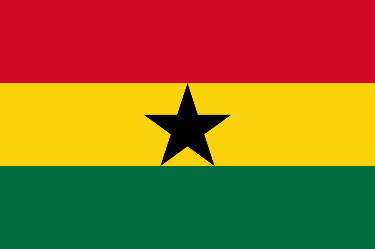 Flagge im Querformat Land Ghana 150x100 cm