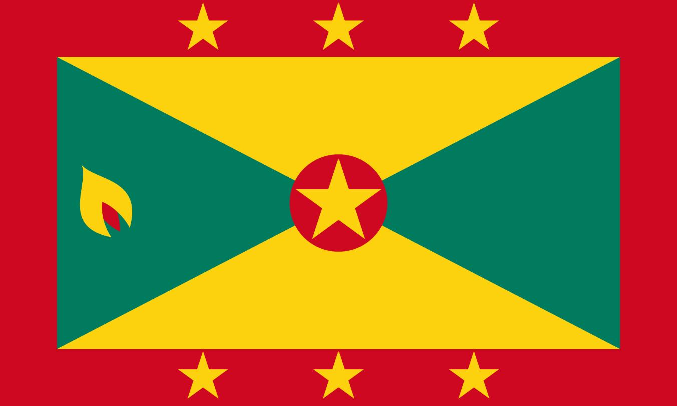 Flagge im Querformat Land Grenada 150x100 cm