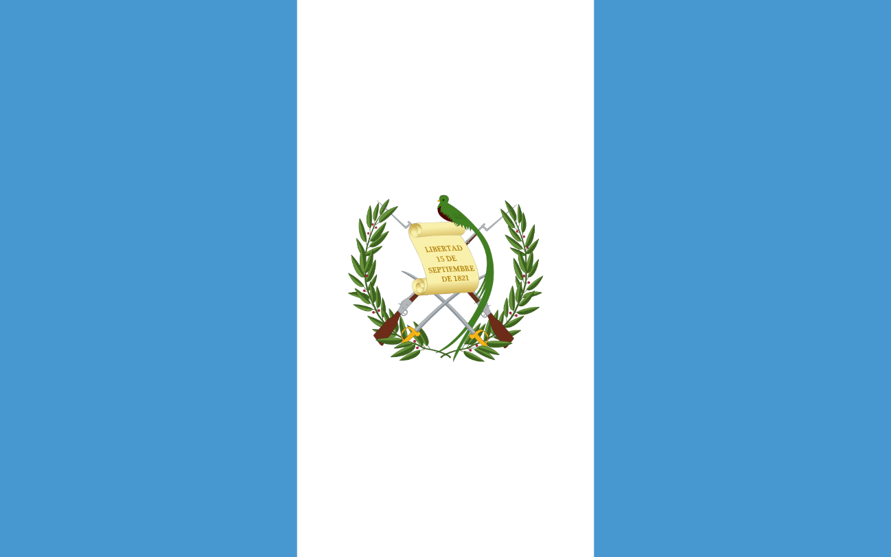 Flagge im Querformat Land Guatemala 150x100 cm