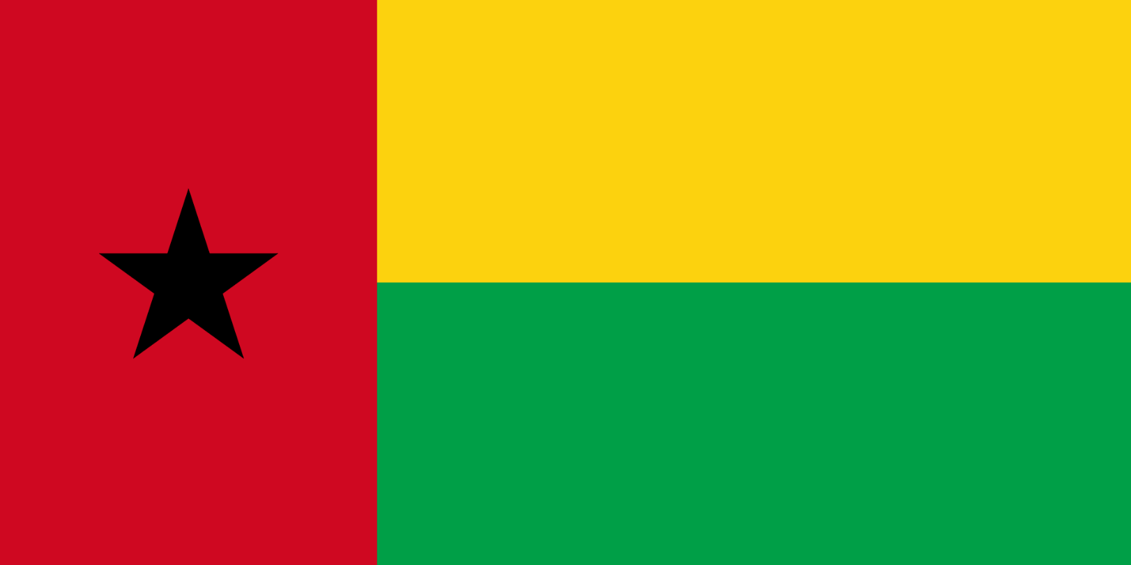 Flagge im Querformat Land Guinea-Bissau 150x100 cm