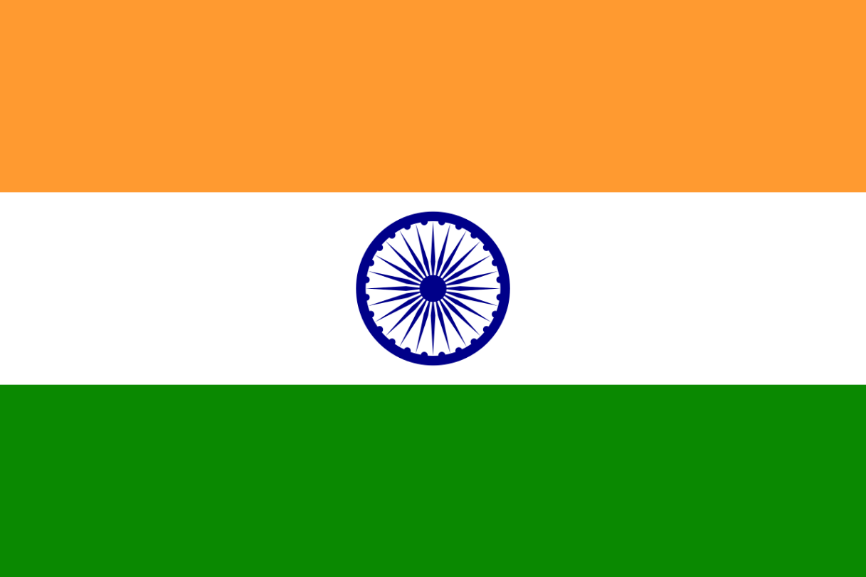 Flagge im Querformat Land Indien 150x100 cm