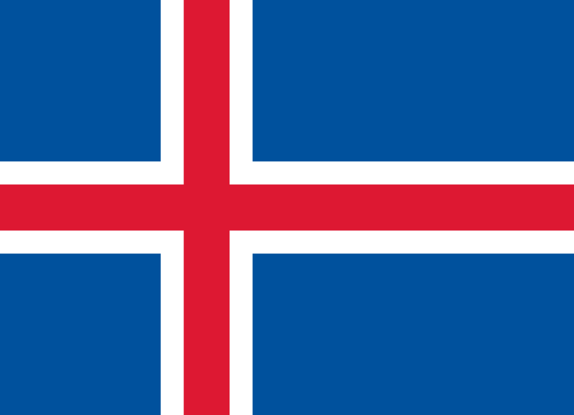 Flagge im Querformat Land Island 150x100 cm