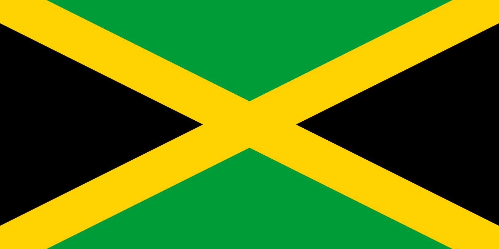Flagge im Querformat Land Jamaika 150x100 cm