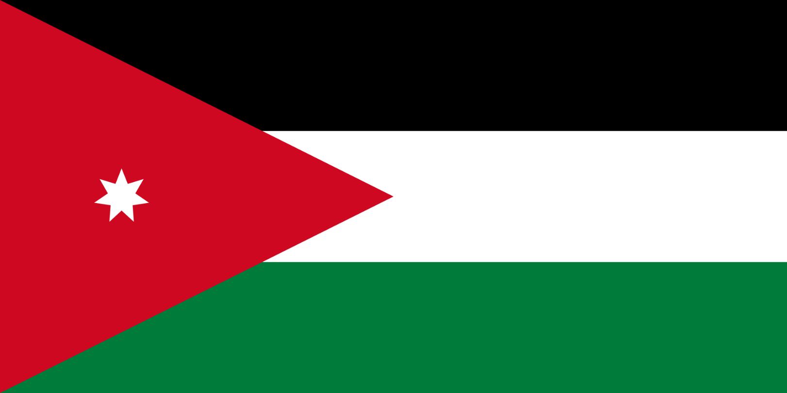 Flagge im Querformat Land Jordanien 150x100 cm