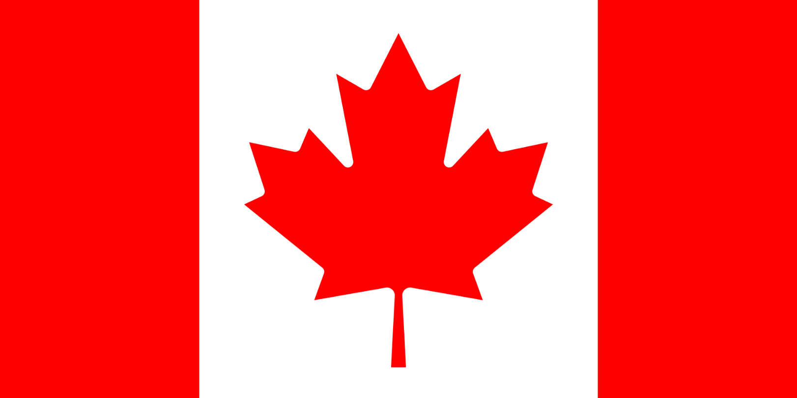 Flagge im Querformat Land Kanada 150x100 cm