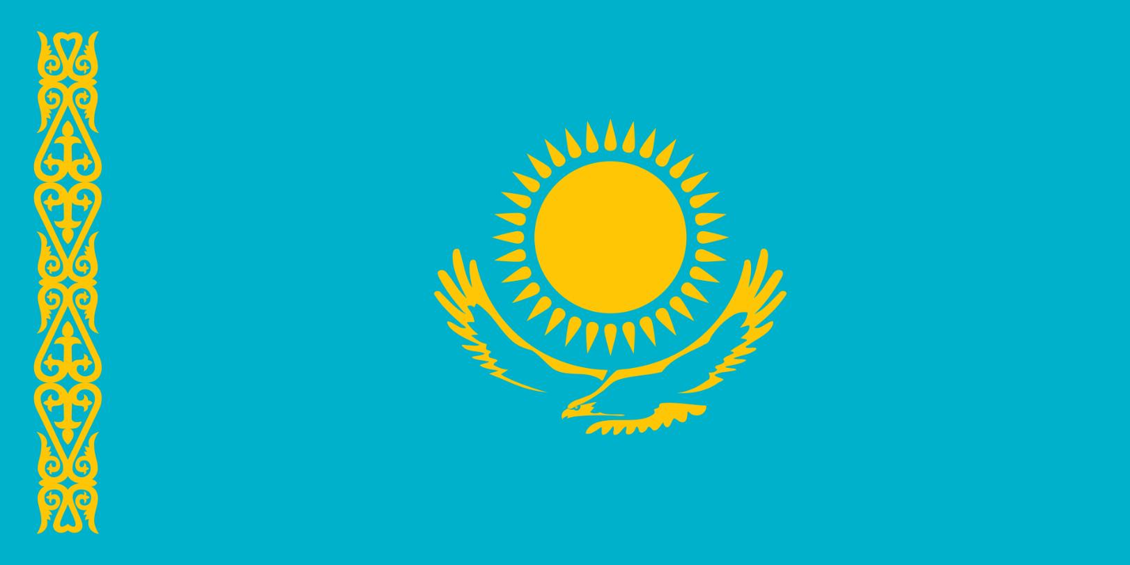 Flagge im Querformat Land Kasachstan 150x100 cm