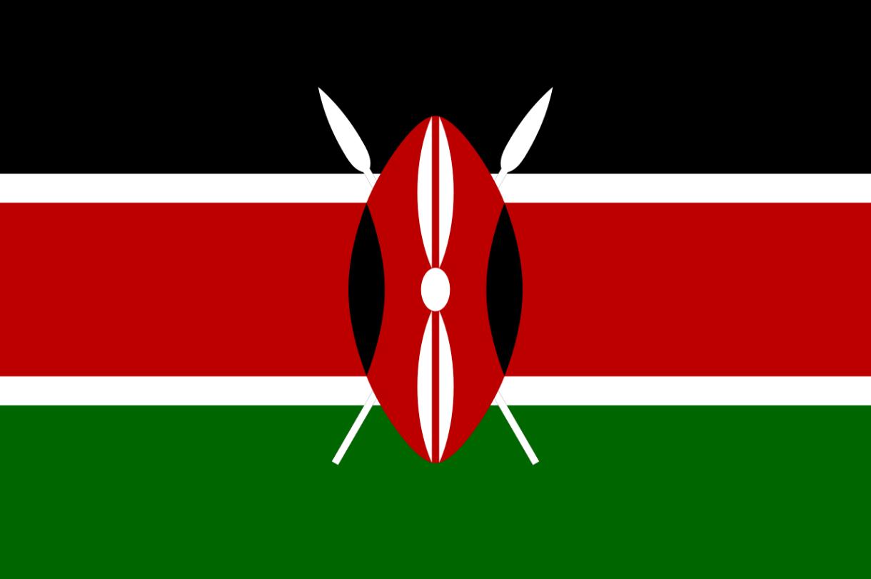 Flagge im Querformat Land Kenia 150x100 cm