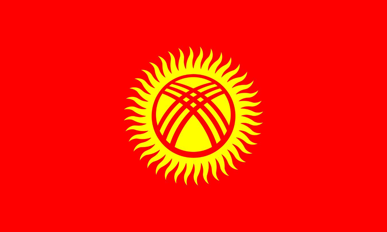 Flagge im Querformat Land Kirgisien 150x100 cm