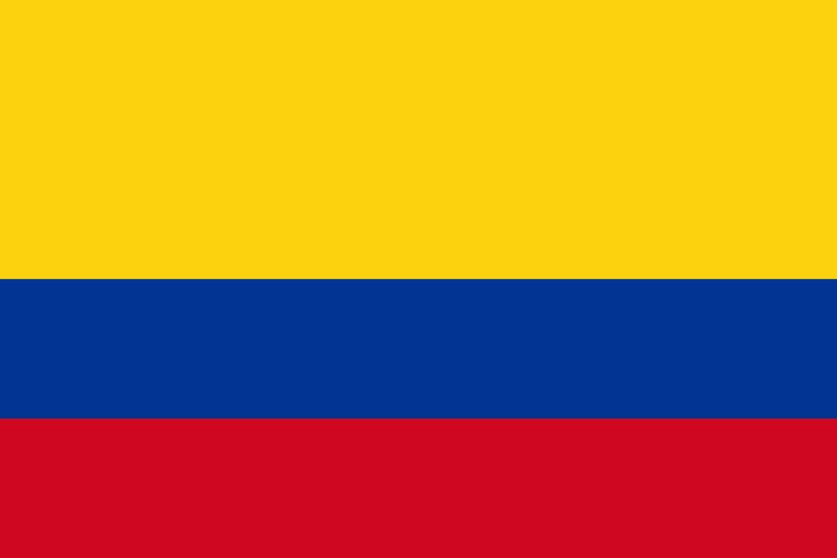 Flagge im Querformat Land Kolumbien 150x100 cm