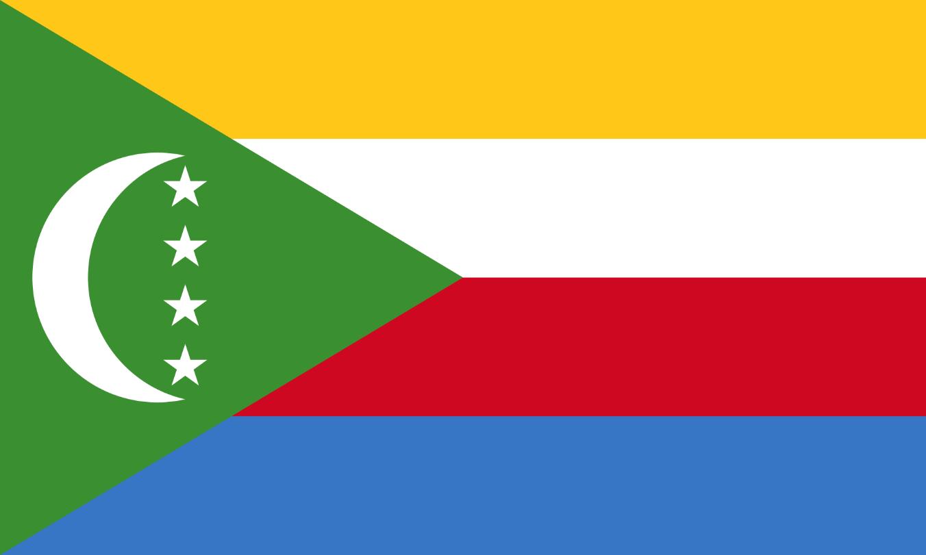 Flagge im Querformat Land Komoren 150x100 cm