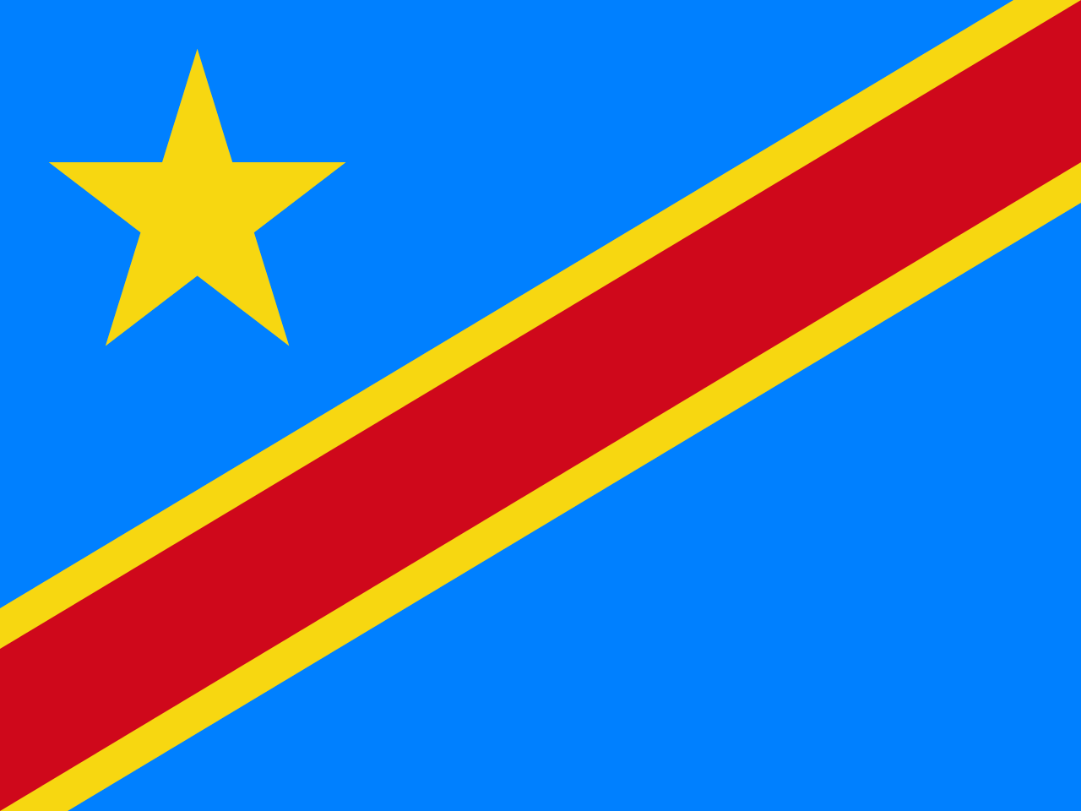 Flagge im Querformat Land Kongo Brazzaville 150x100 cm