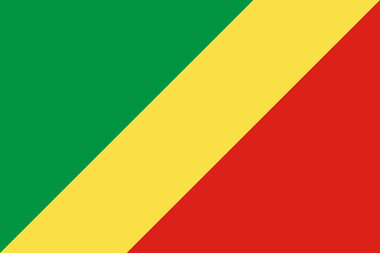 Flagge im Querformat Land Kongo 150x100 cm