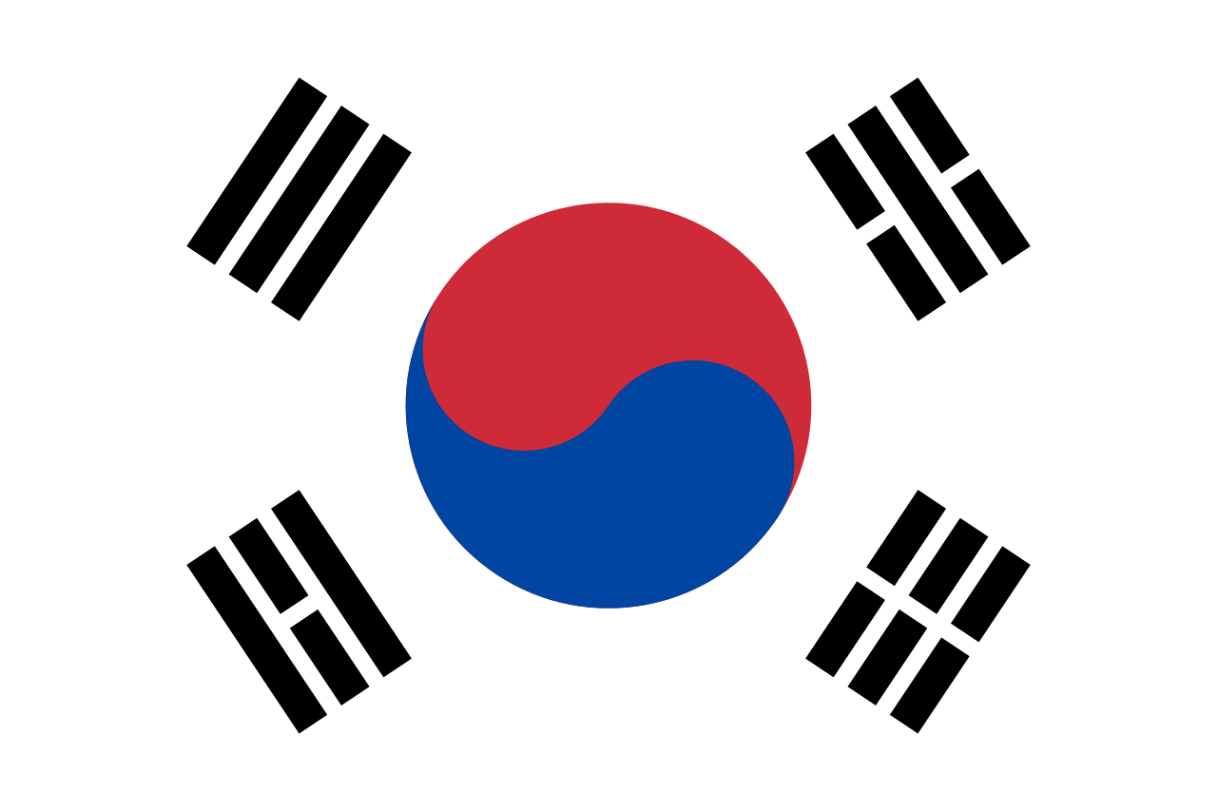 Flagge im Querformat Land Korea Süd 150x100 cm