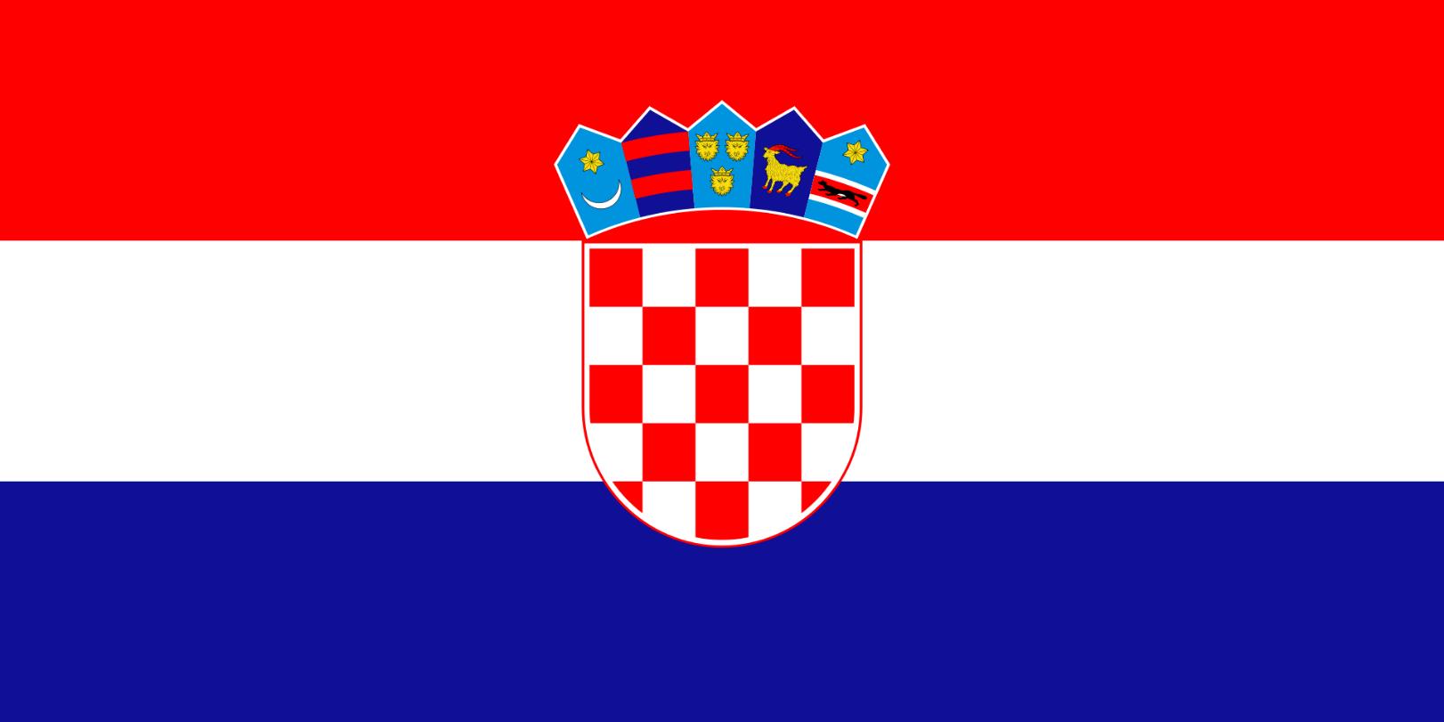Flagge im Querformat Land Kroatien 150x100 cm
