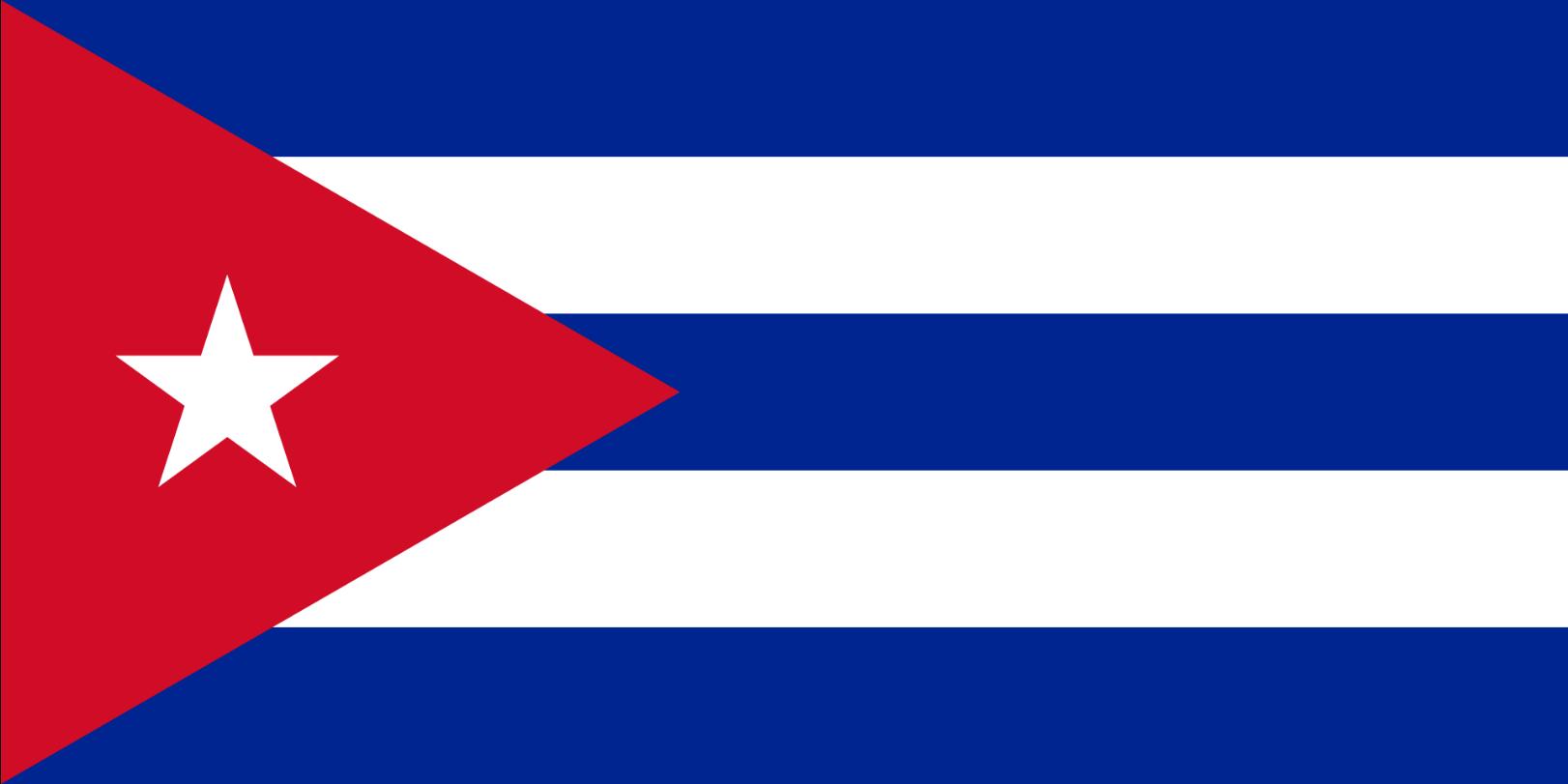 Flagge im Querformat Land Kuba 150x100 cm