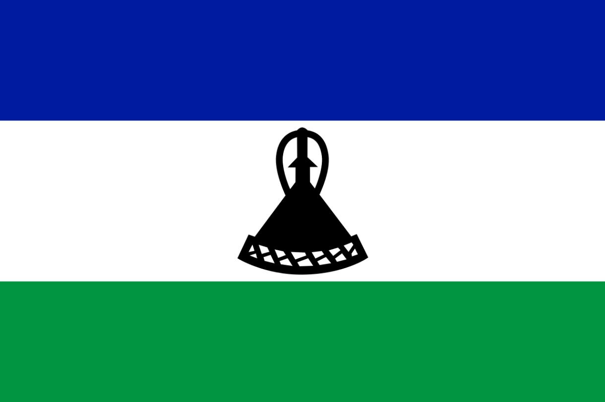 Flagge im Querformat Land Lesotho 150x100 cm