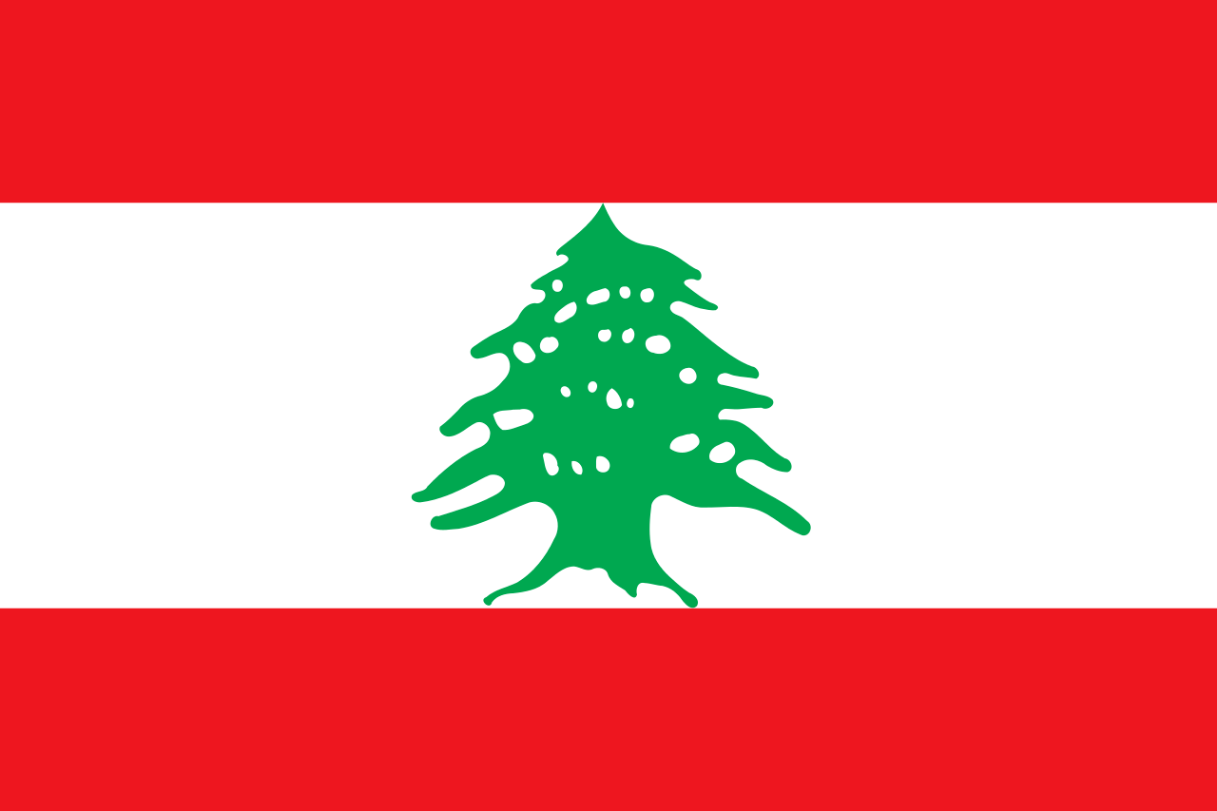 Flagge im Querformat Land Libanon 150x100 cm