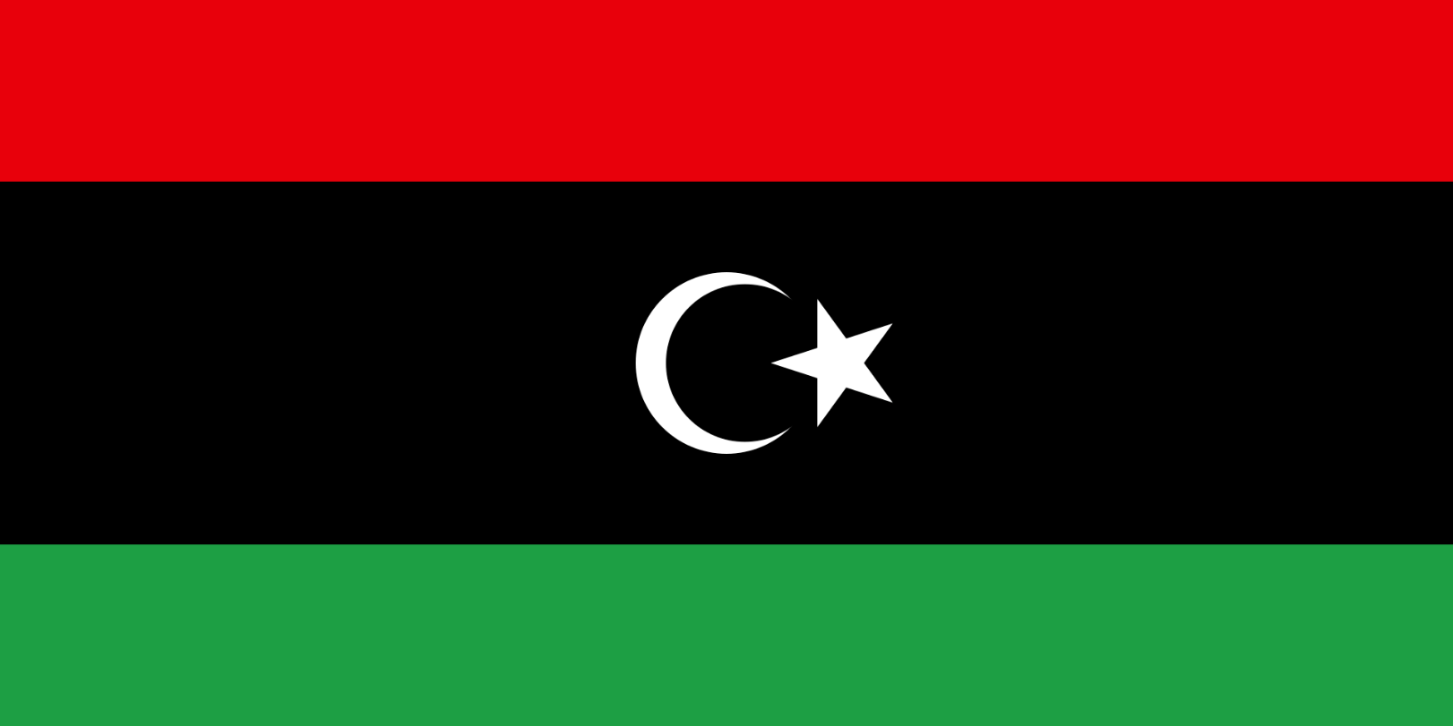 Flagge im Querformat Land Libyen 150x100 cm