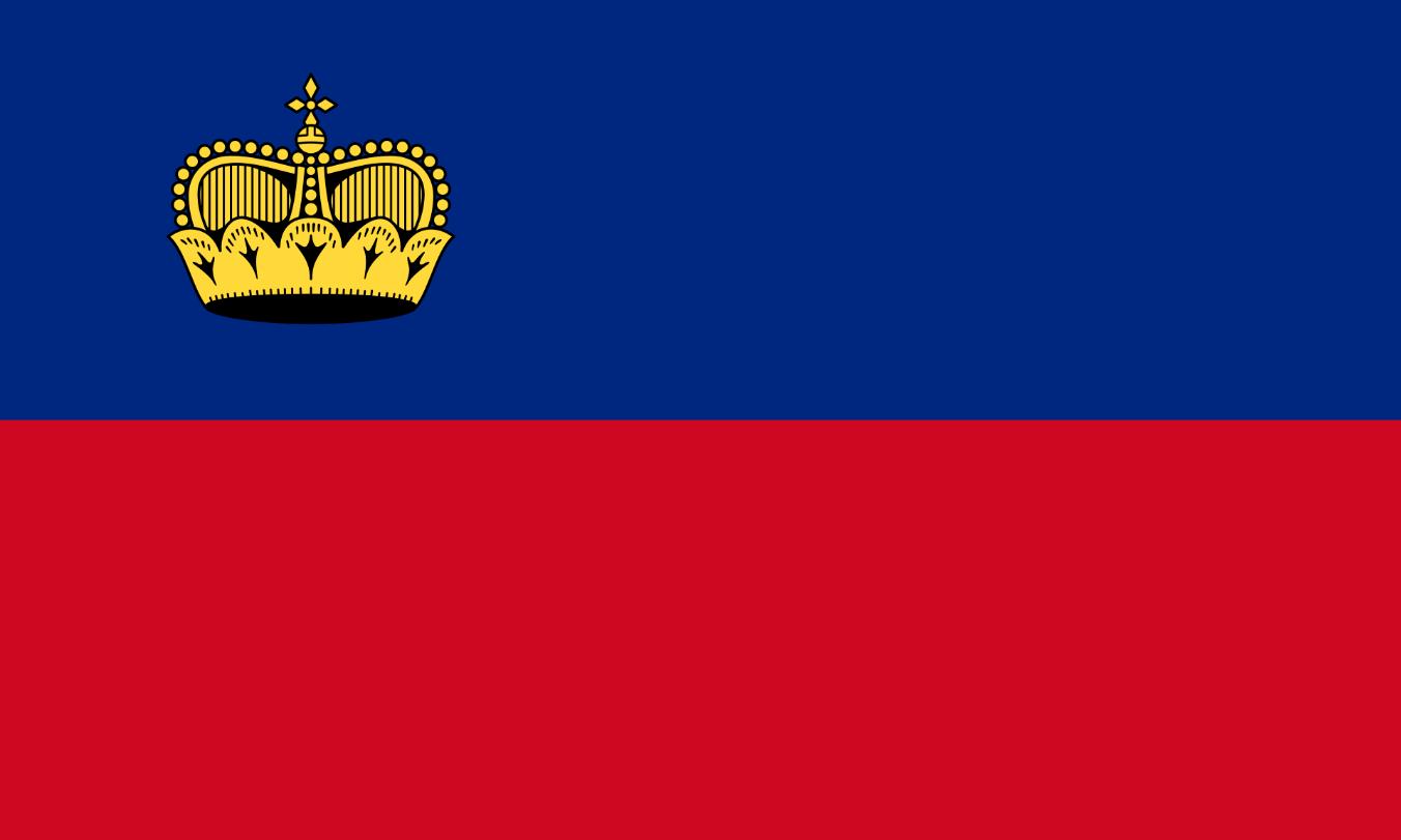Flagge im Querformat Land Lichtenstein 150x100 cm