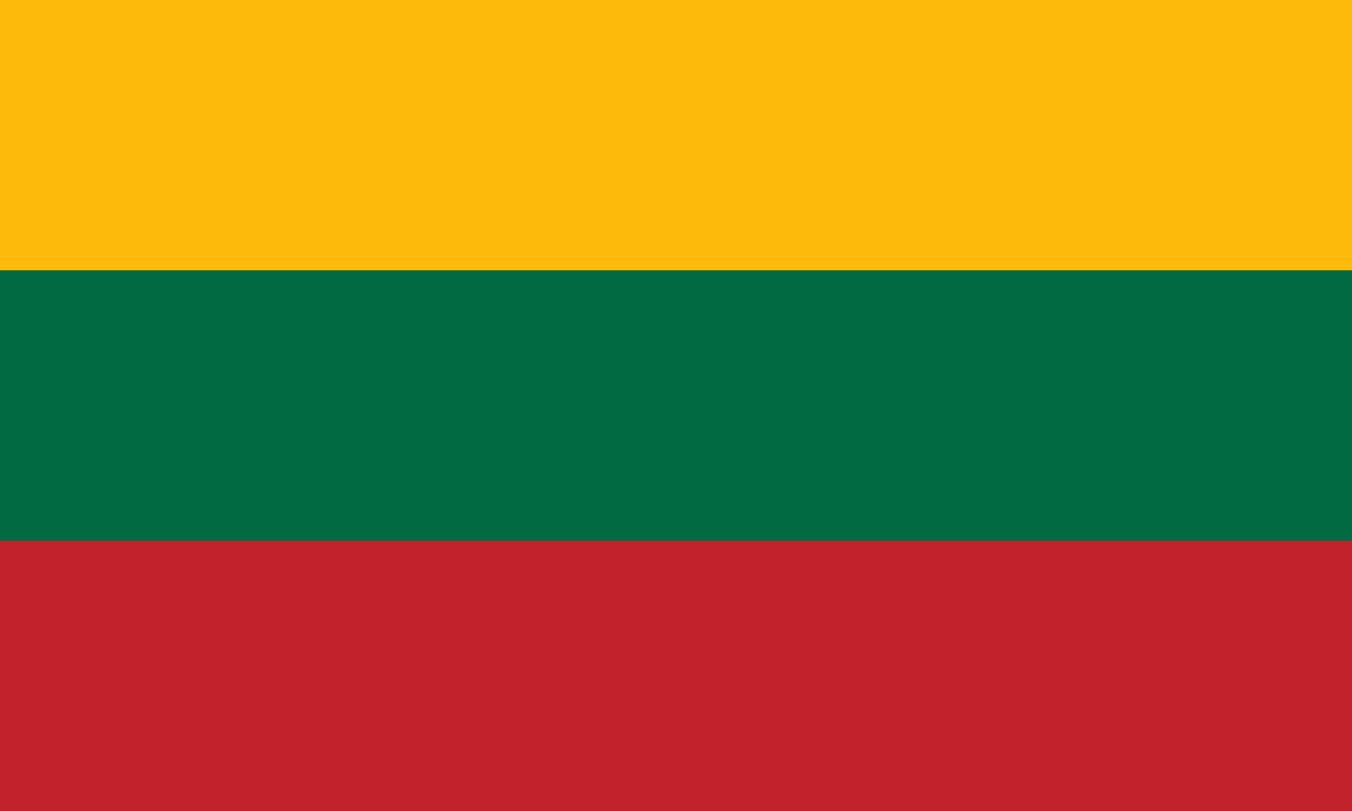 Flagge im Querformat Land Litauen 150x100 cm