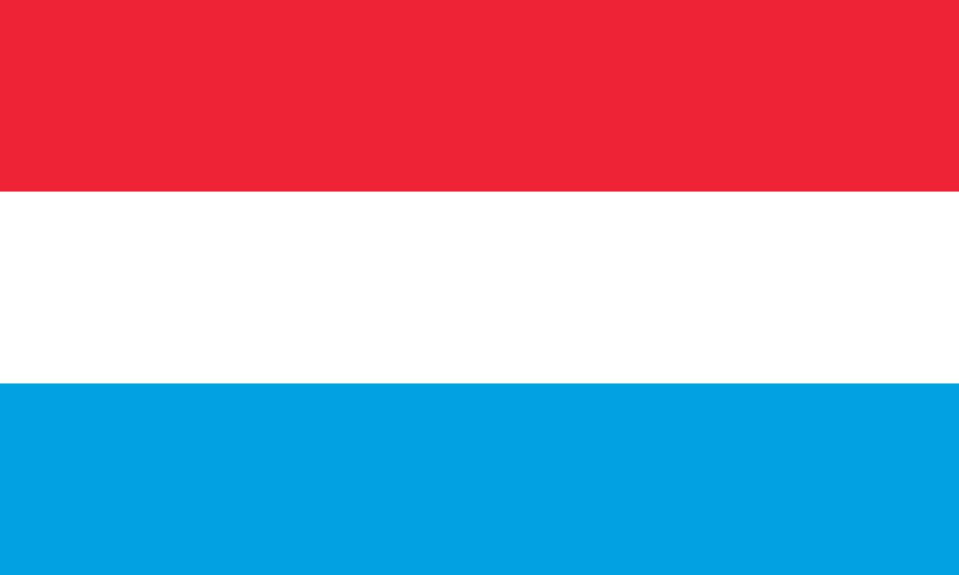 Flagge im Querformat Land Luxemburg 150x100 cm
