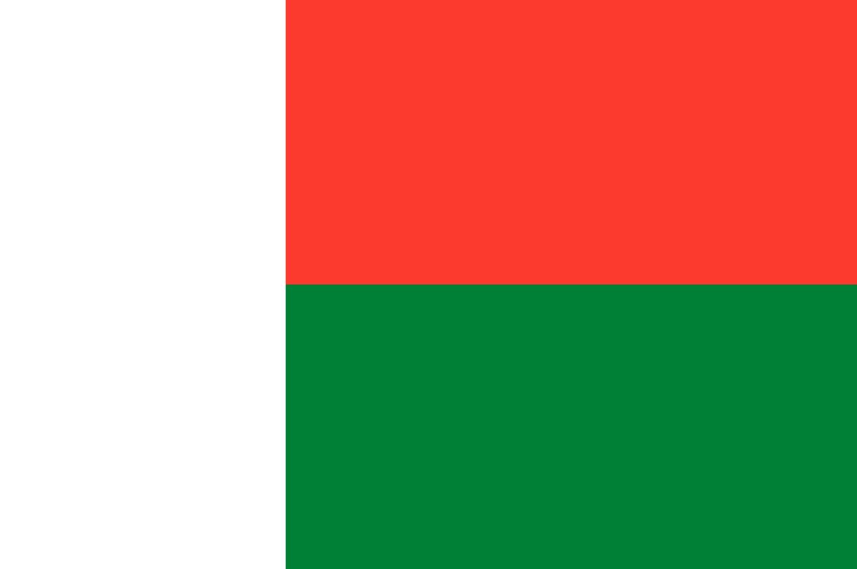 Flagge im Querformat Land Madagaskar 150x100 cm