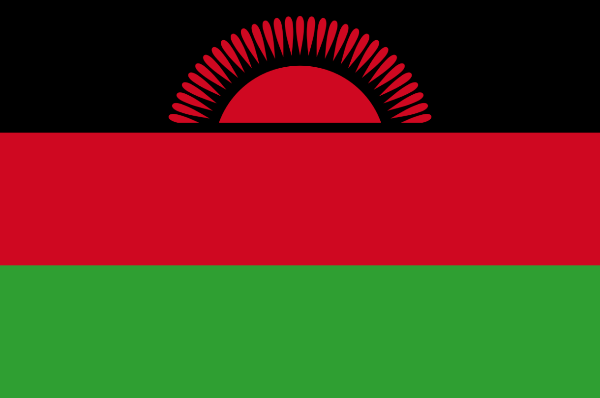Flagge im Querformat Land Malawi 150x100 cm
