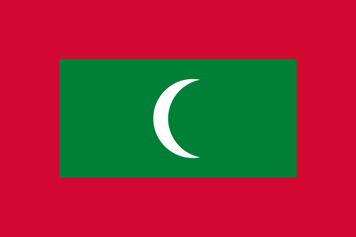 Flagge im Querformat Land Malediven 150x100 cm