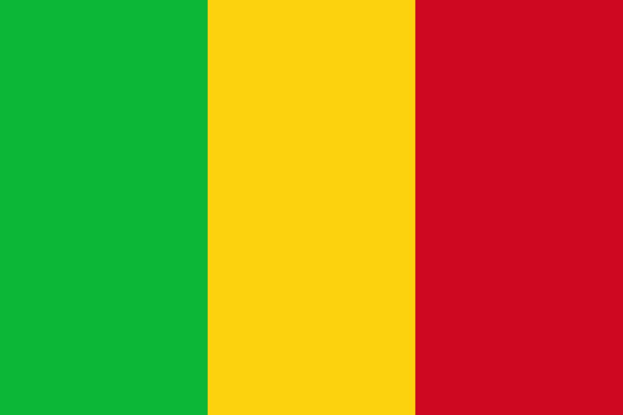 Flagge im Querformat Land Mali 150x100 cm