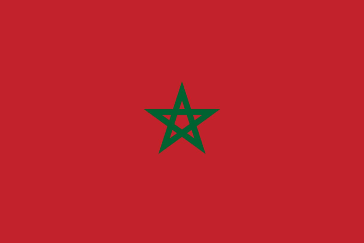 Flagge im Querformat Land Marokko 150x100 cm
