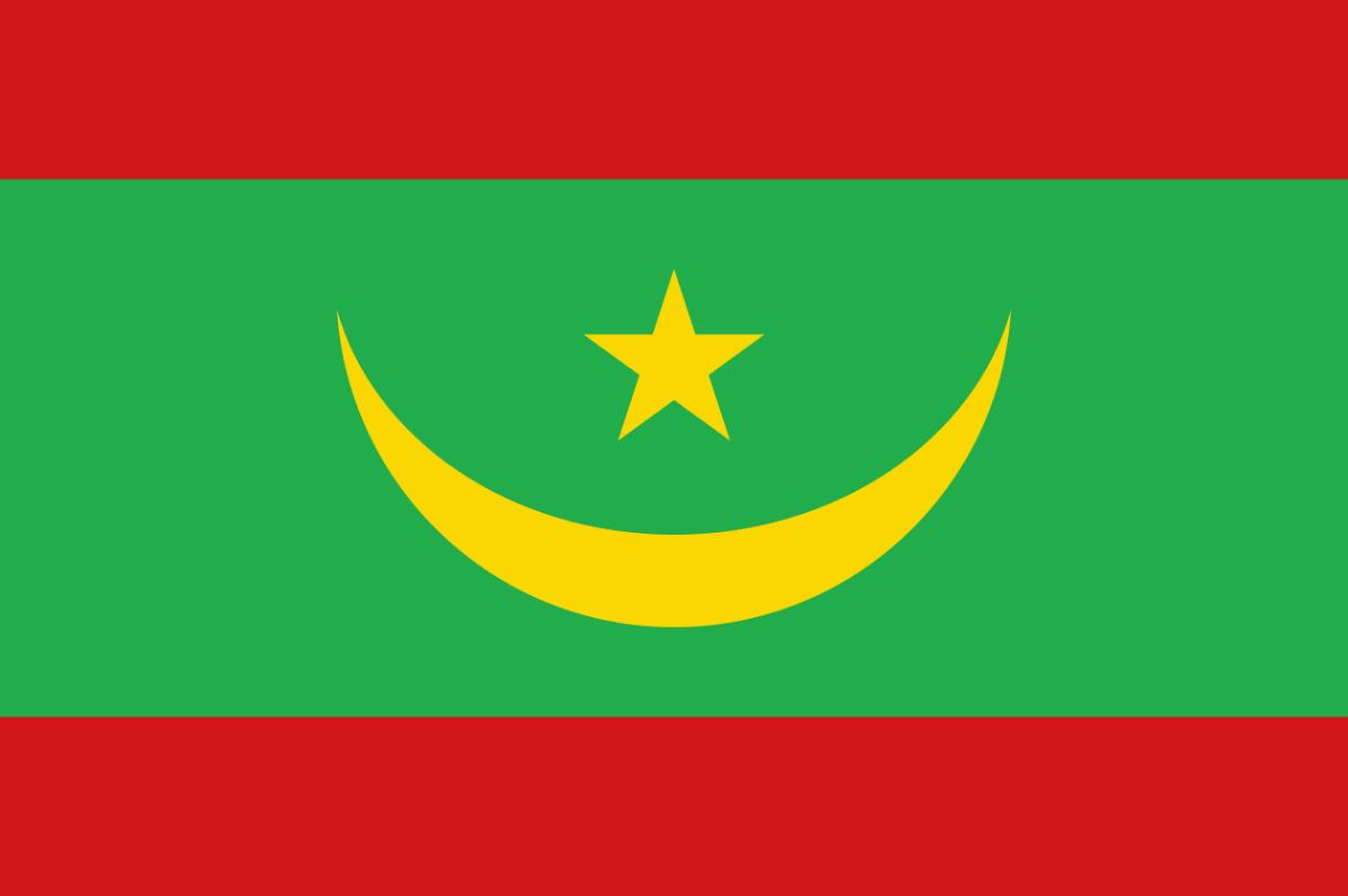 Flagge im Querformat Land Mauretanien 150x100 cm