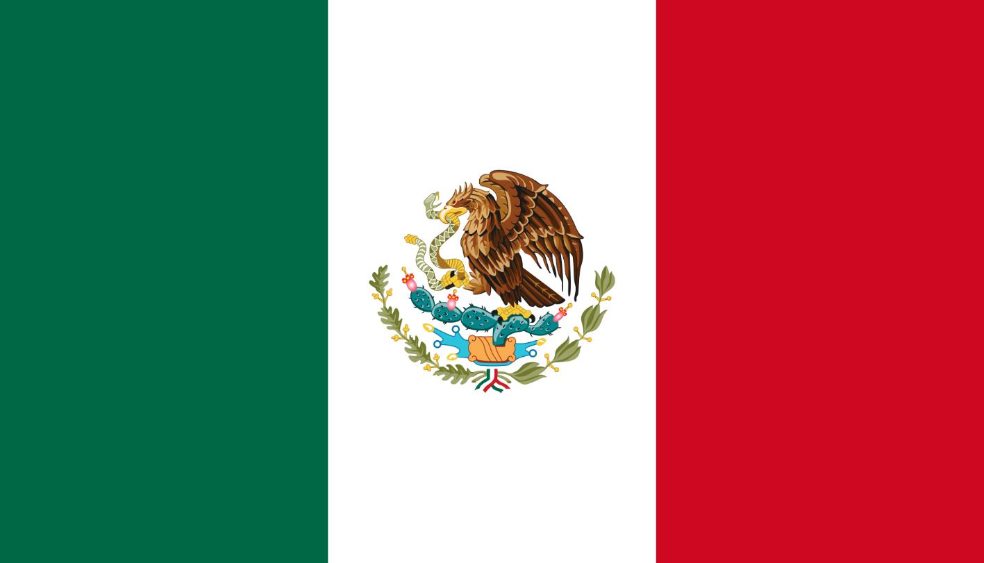 Flagge im Querformat Land Mexiko 150x100 cm