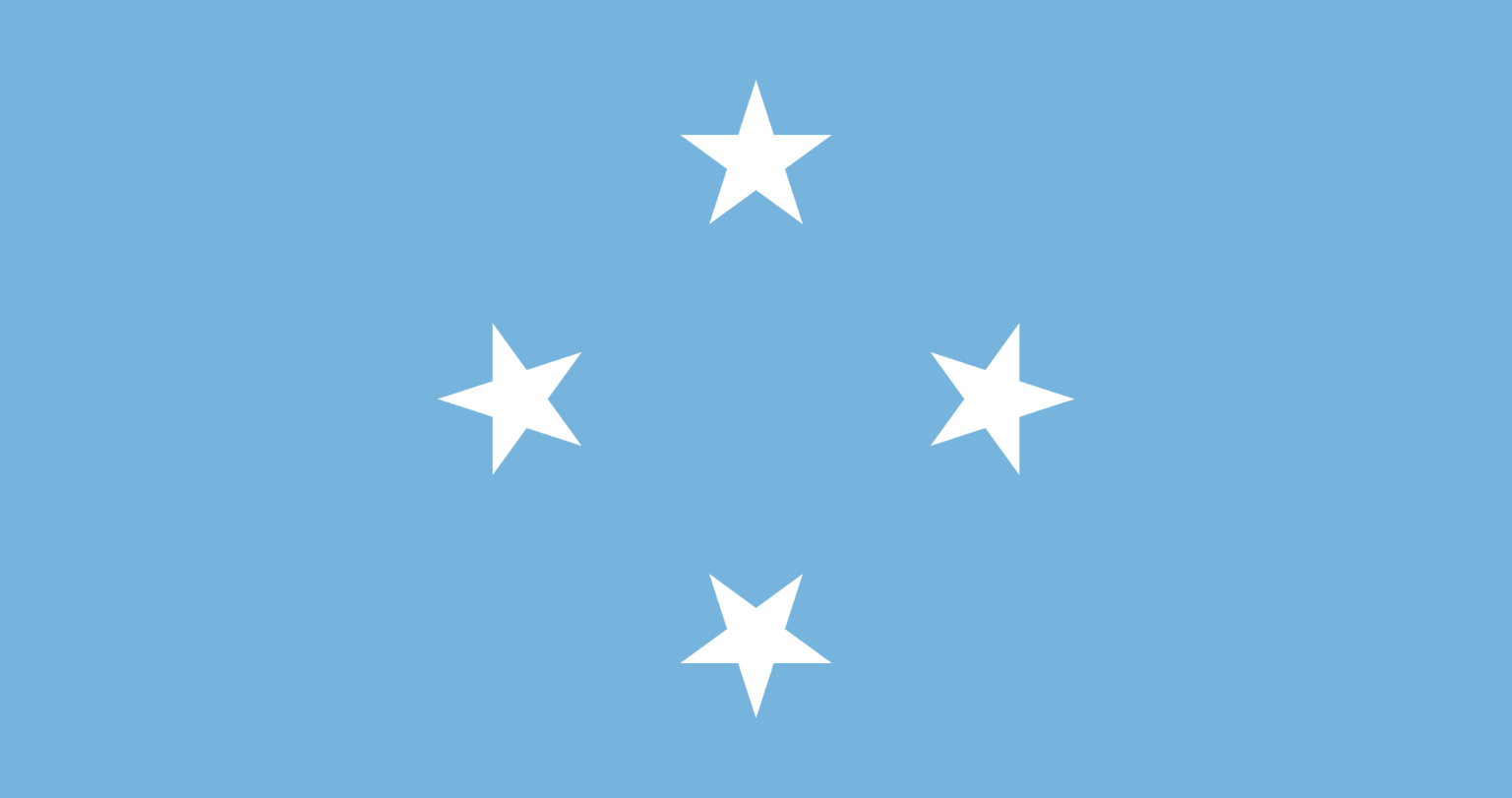 Flagge im Querformat Land Mikronesien 150x100 cm