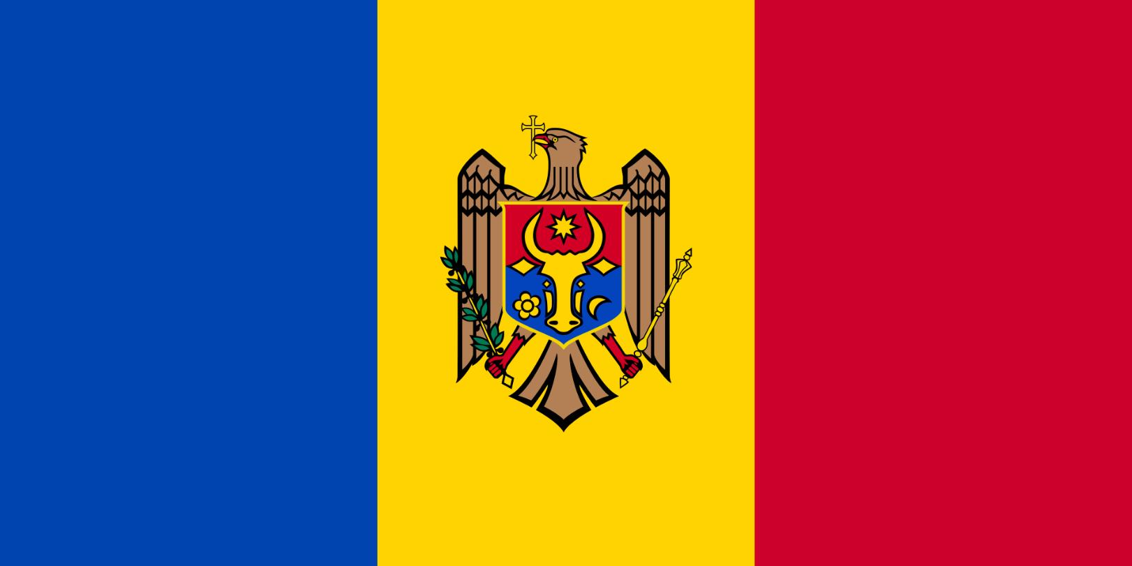 Flagge im Querformat Land Moldawien 150x100 cm