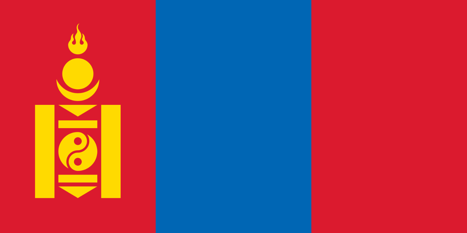 Flagge im Querformat Land Mongolei 150x100 cm